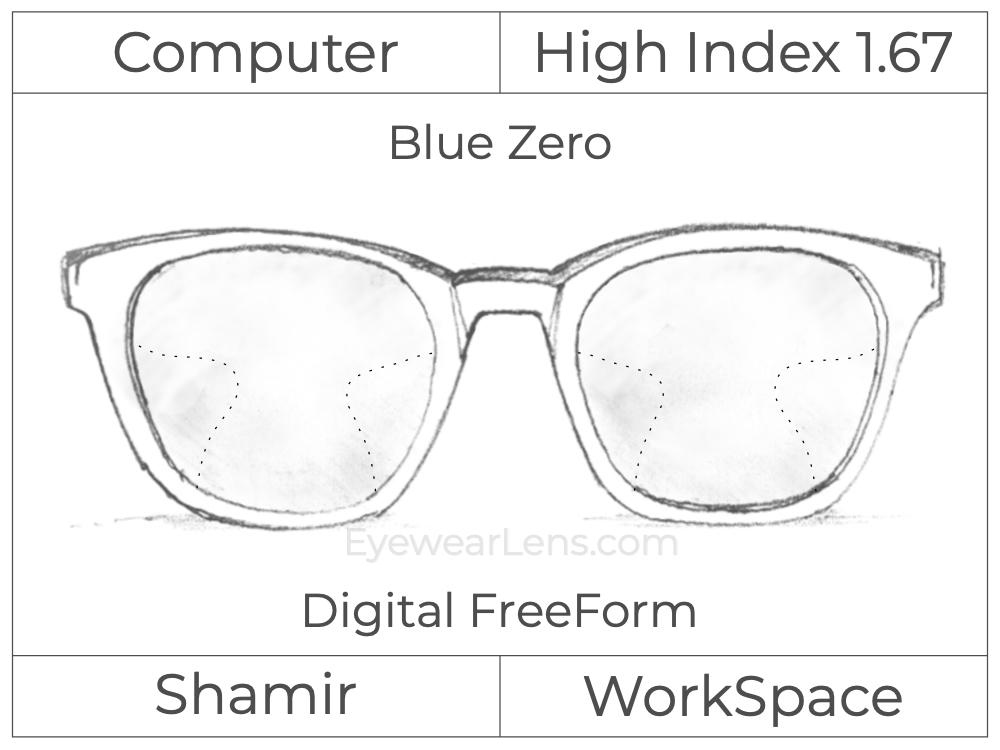 Computer Progressive - Shamir - WorkSpace - Digital FreeForm - High Index 1.67 - Blue Zero