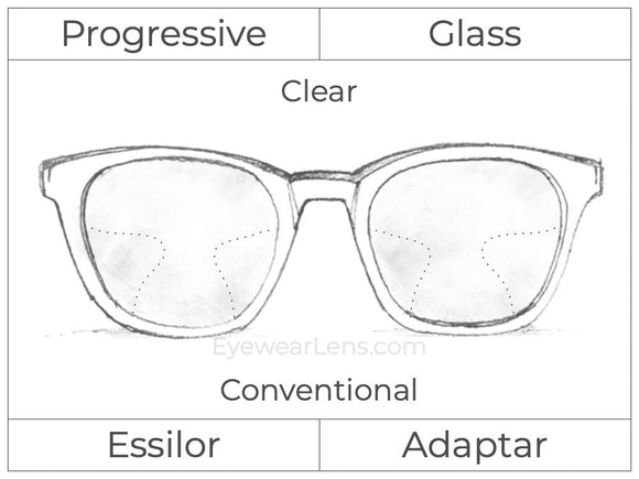 Progressive - Essilor - Adaptar - Glass - Clear