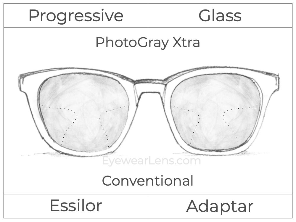 Progressive - Essilor - Adaptar - Glass - Photo Gray Xtra