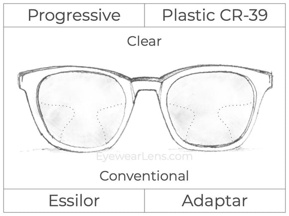 Progressive - Essilor - Adaptar - Plastic - Clear