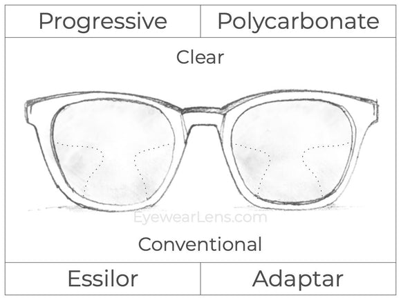 Progressive - Essilor - Adaptar - Polycarbonate - Clear