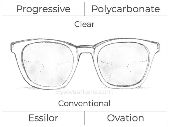 Progressive - Essilor - Ovation - Polycarbonate - Clear