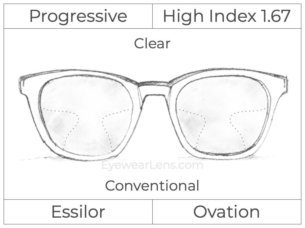 Progressive - Essilor - Ovation - High Index 1.67 - Clear