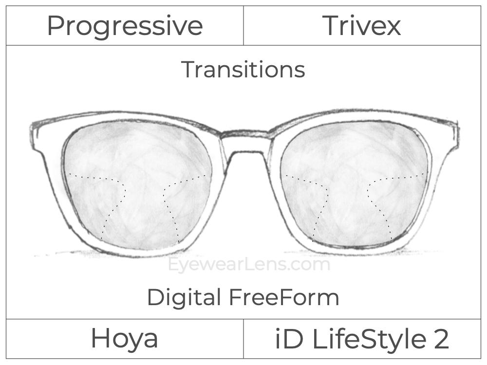 Progressive - Hoya - ID LifeStyle 2 - Digital FreeForm - Trivex - Transitions Signature