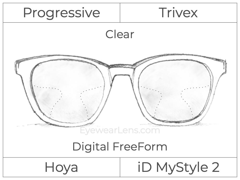 Progressive - Hoya - ID MyStyle - Digital FreeForm - Trivex - Clear