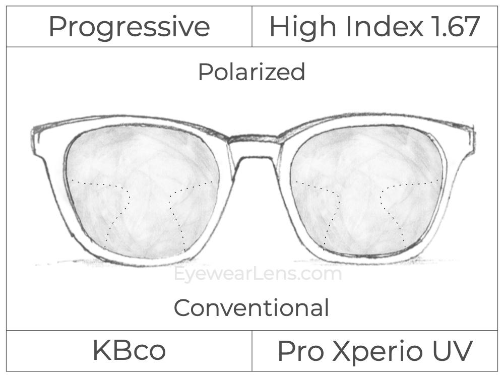 Progressive - KBco - iRx Pro Xperio UV - High Index 1.67 - Polarized