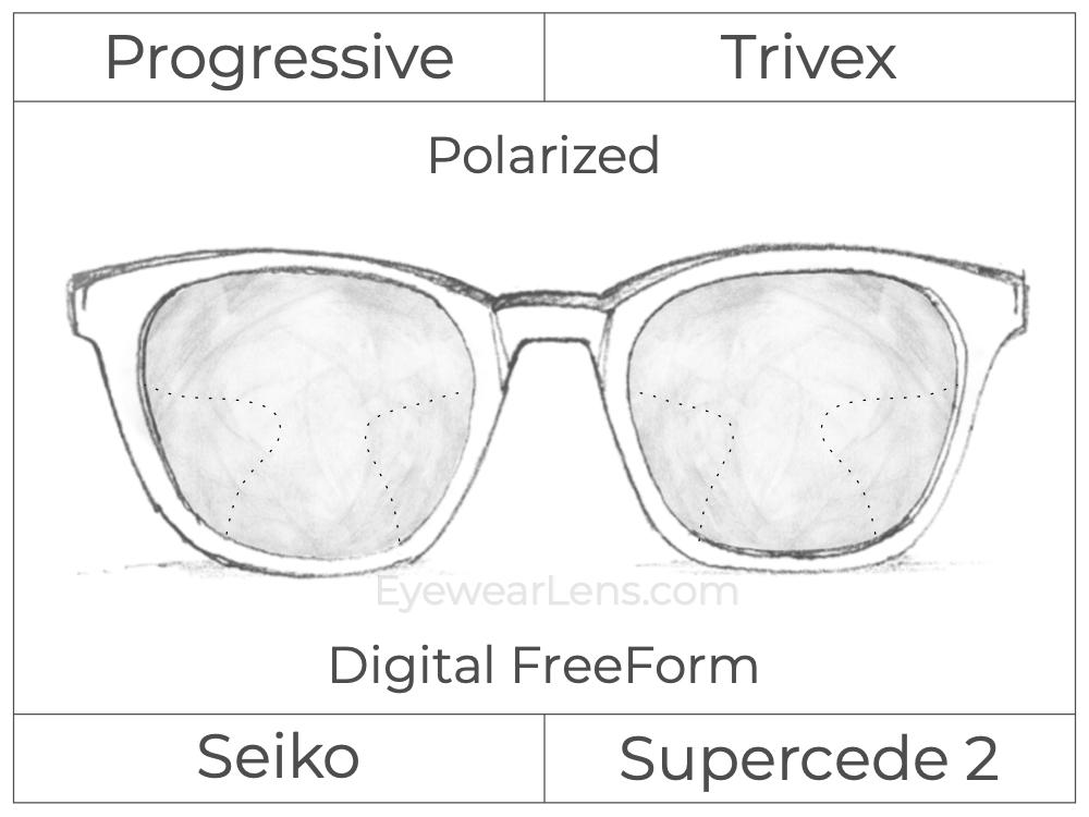 Progressive - Seiko - Supercede 2 - Digital FreeForm - Trivex - Polarized