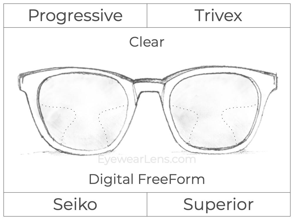 Progressive - Seiko - Superior - Digital FreeForm - Trivex - Clear