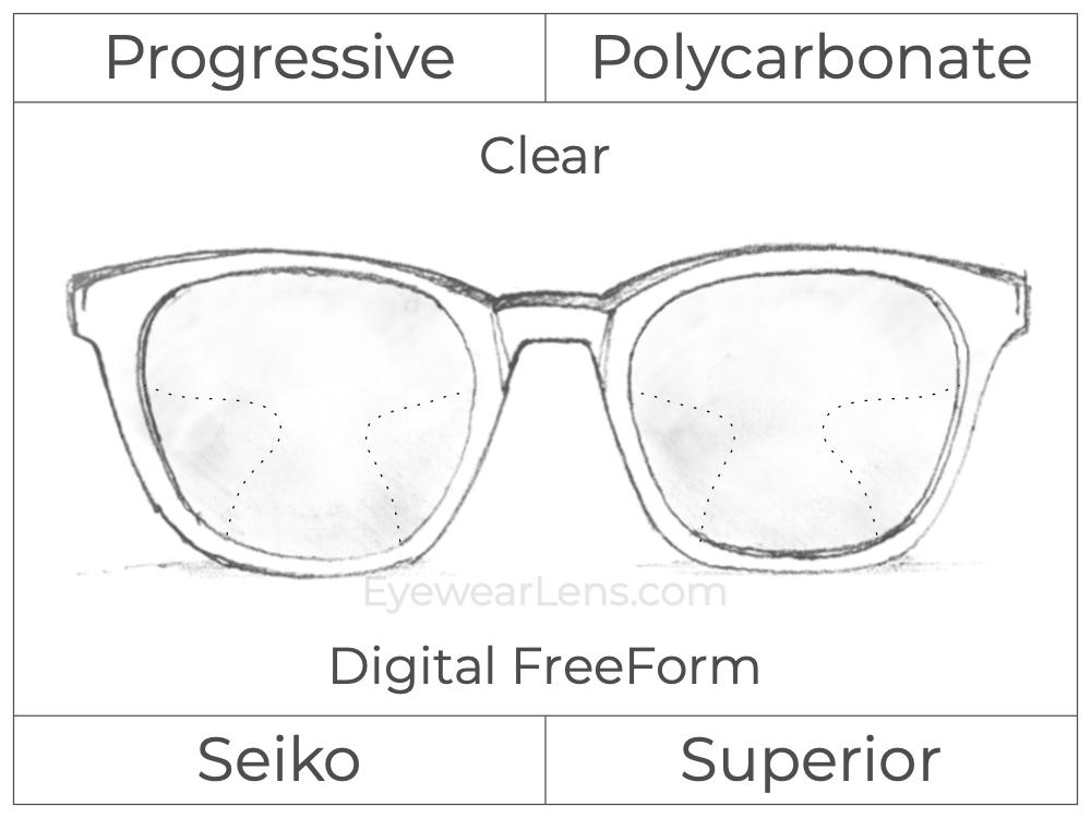 Progressive - Seiko - Superior - Digital FreeForm - Polycarbonate - Clear