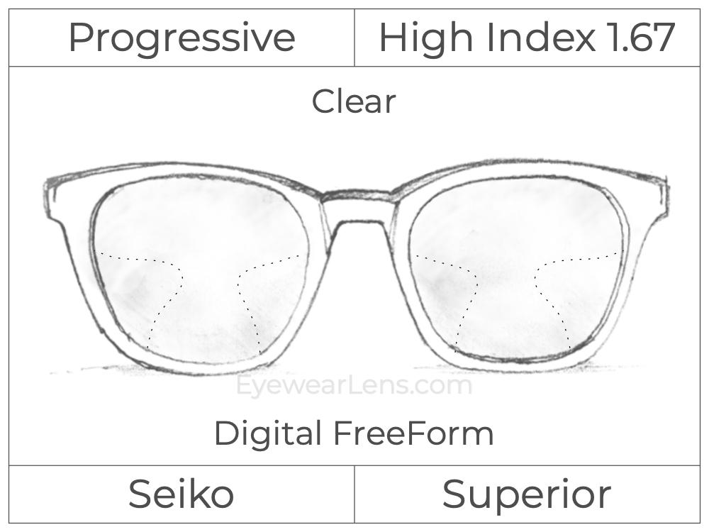 Progressive - Seiko - Superior - Digital FreeForm - High Index 1.67 - Clear