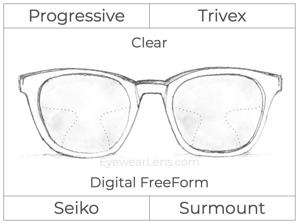 Progressive - Seiko - Surmount - Digital FreeForm - Trivex - Clear