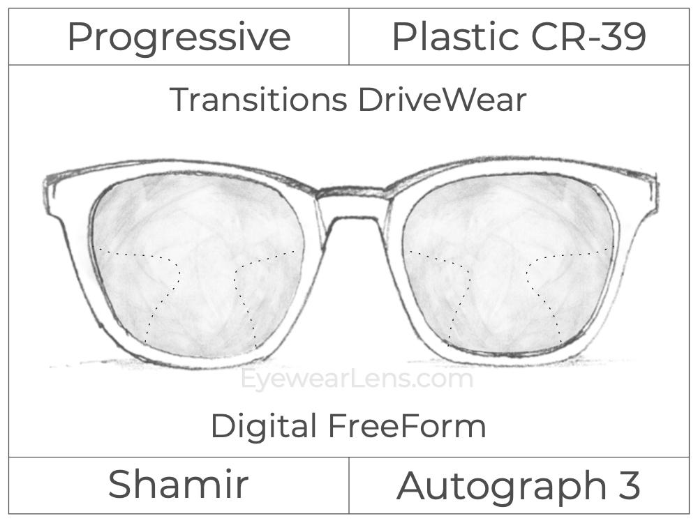 Progressive - Shamir - Autograph 3 - Digital FreeForm - Plastic - Transitions DriveWear