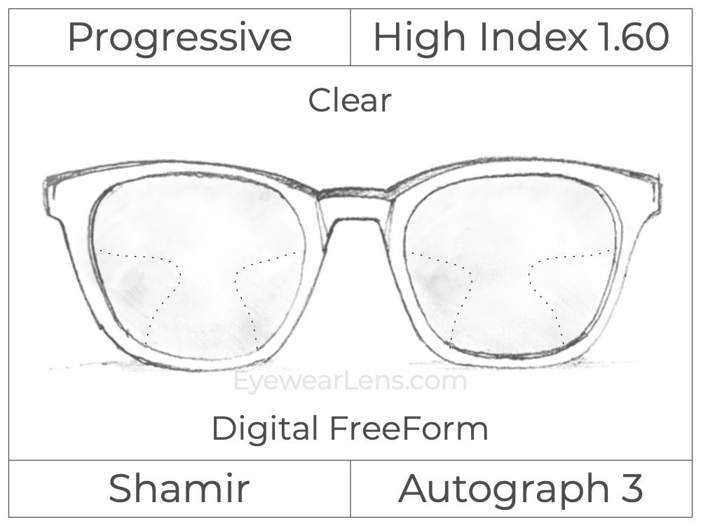 Progressive - Shamir - Autograph 3 - Digital FreeForm - High Index 1.60 - Clear