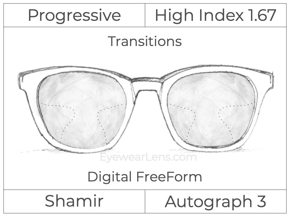 Progressive - Shamir - Autograph 3 - Digital FreeForm - High Index 1.67 - Transitions Signature