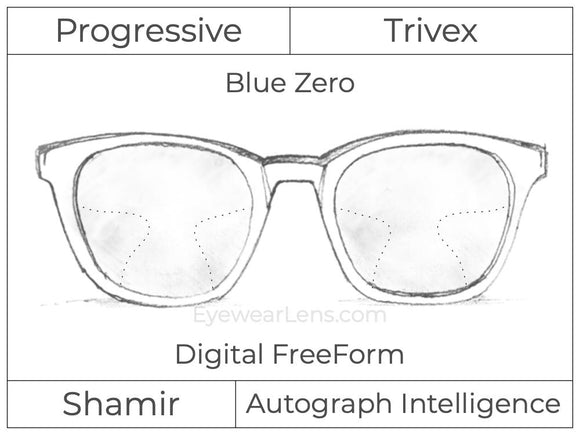 Progressive - Shamir - Autograph Intelligence - Digital FreeForm - Trivex - Blue Zero