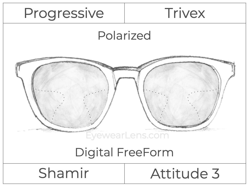 Progressive - Shamir - Attitude 3 - Digital FreeForm - Trivex - Polarized