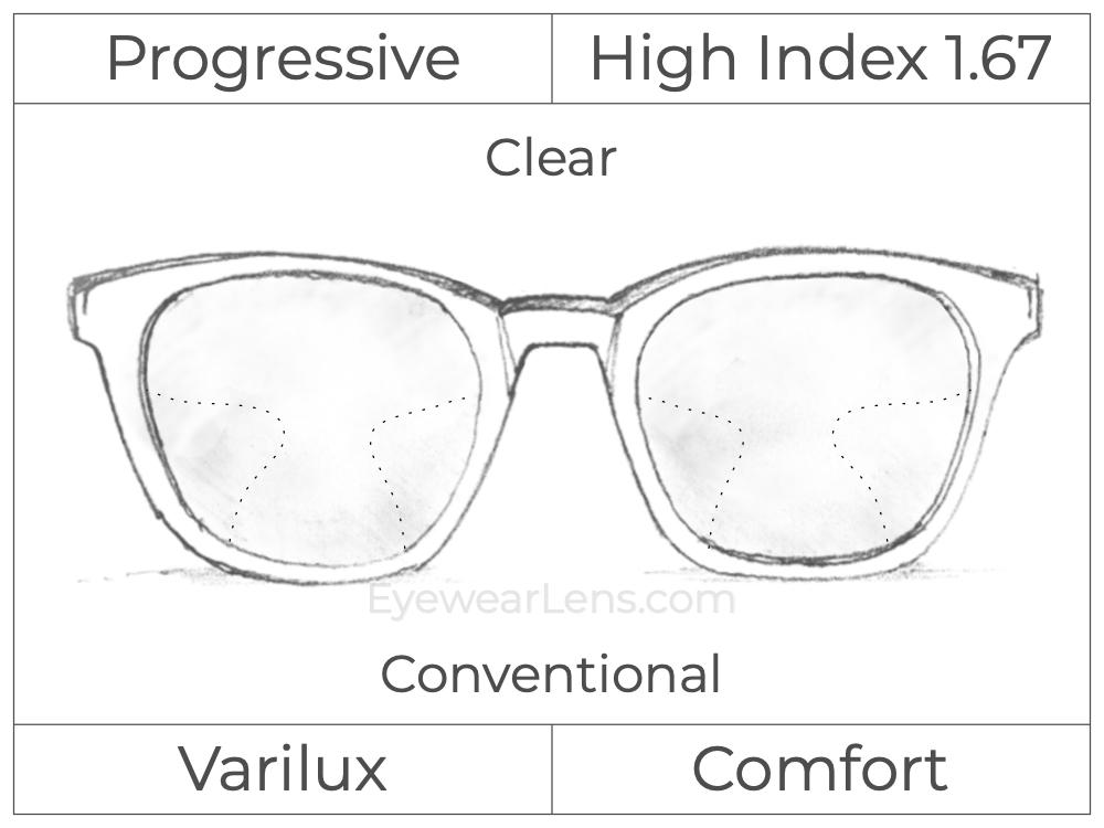 Progressive - Varilux - Comfort - High Index 1.67 - Clear