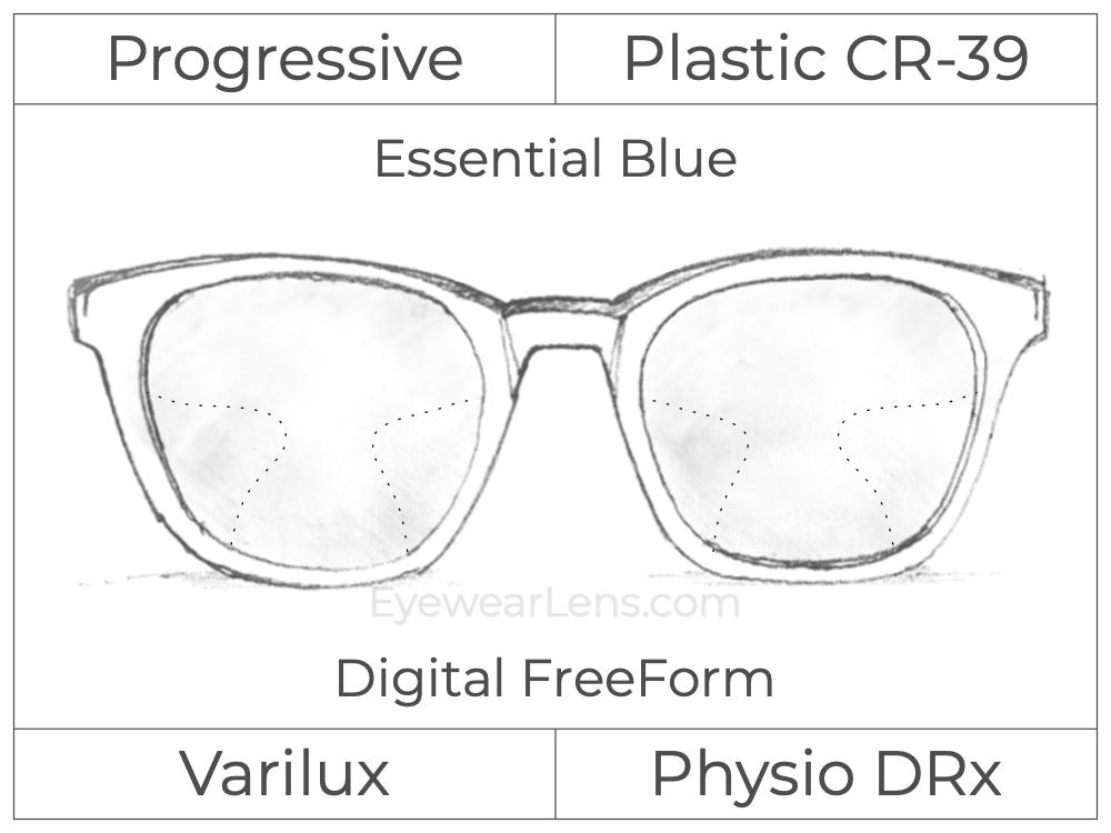 Progressive - Varilux - Physio DRx - Digital FreeForm - Plastic - Essential Blue Series