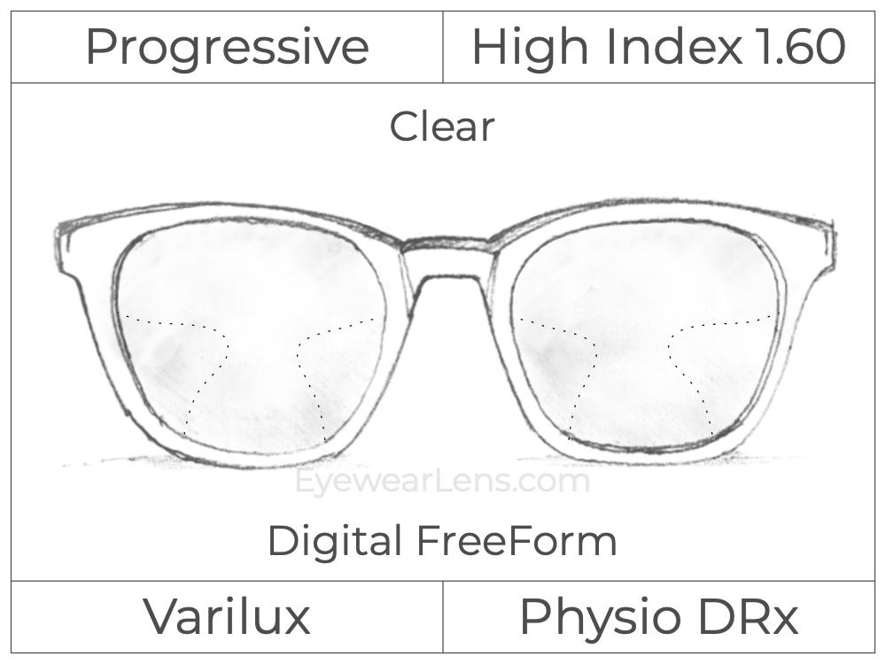Progressive - Varilux - Physio DRx - Digital FreeForm - High Index 1.60 - Clear