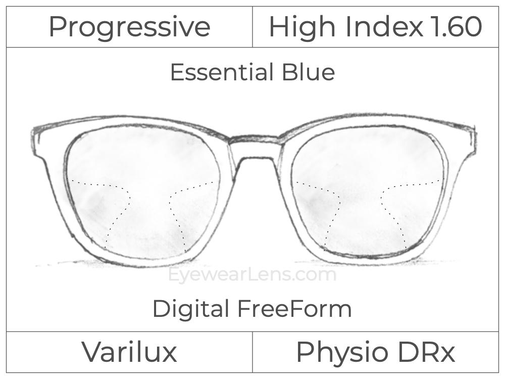 Progressive - Varilux - Physio DRx - Digital FreeForm - High Index 1.60 - Essential Blue Series