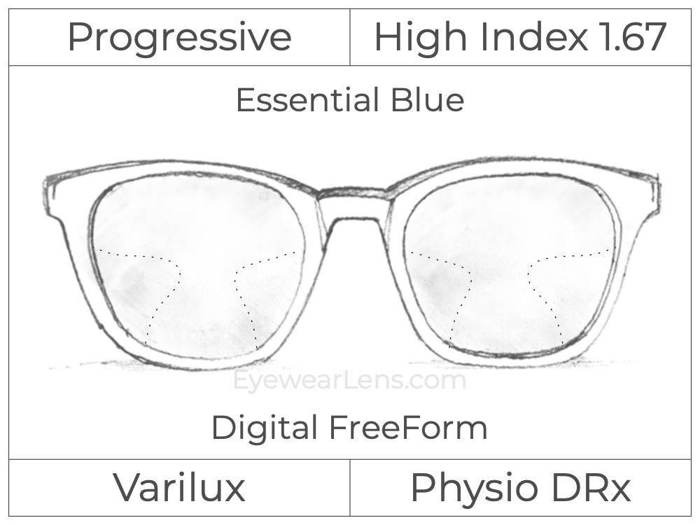 Progressive - Varilux - Physio DRx - Digital FreeForm - High Index 1.67 - Essential Blue Series