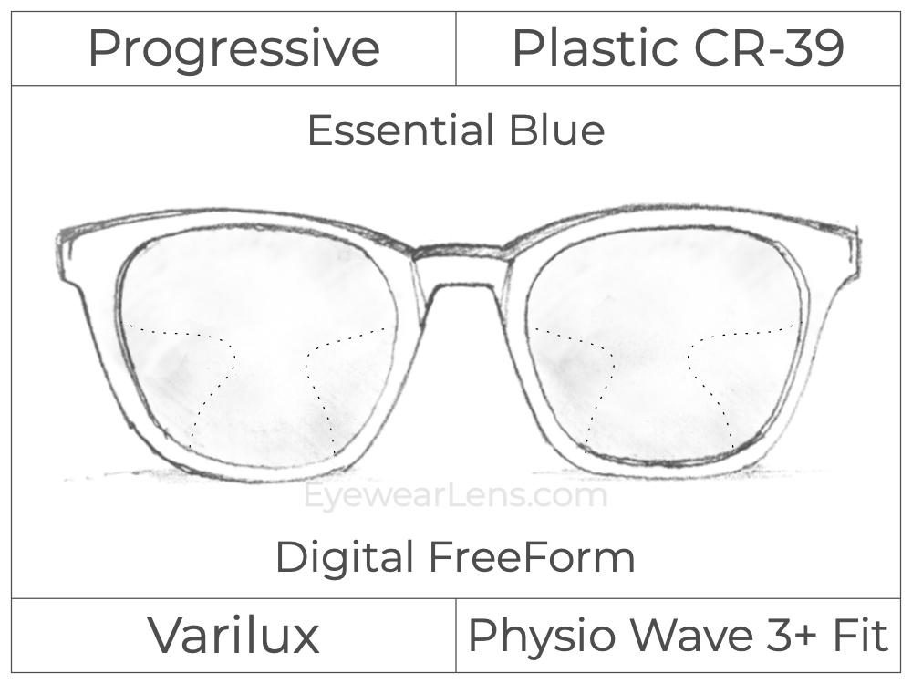 Progressive - Varilux - Physio Wave 3 Fit - Digital FreeForm - Plastic - Essential Blue Series