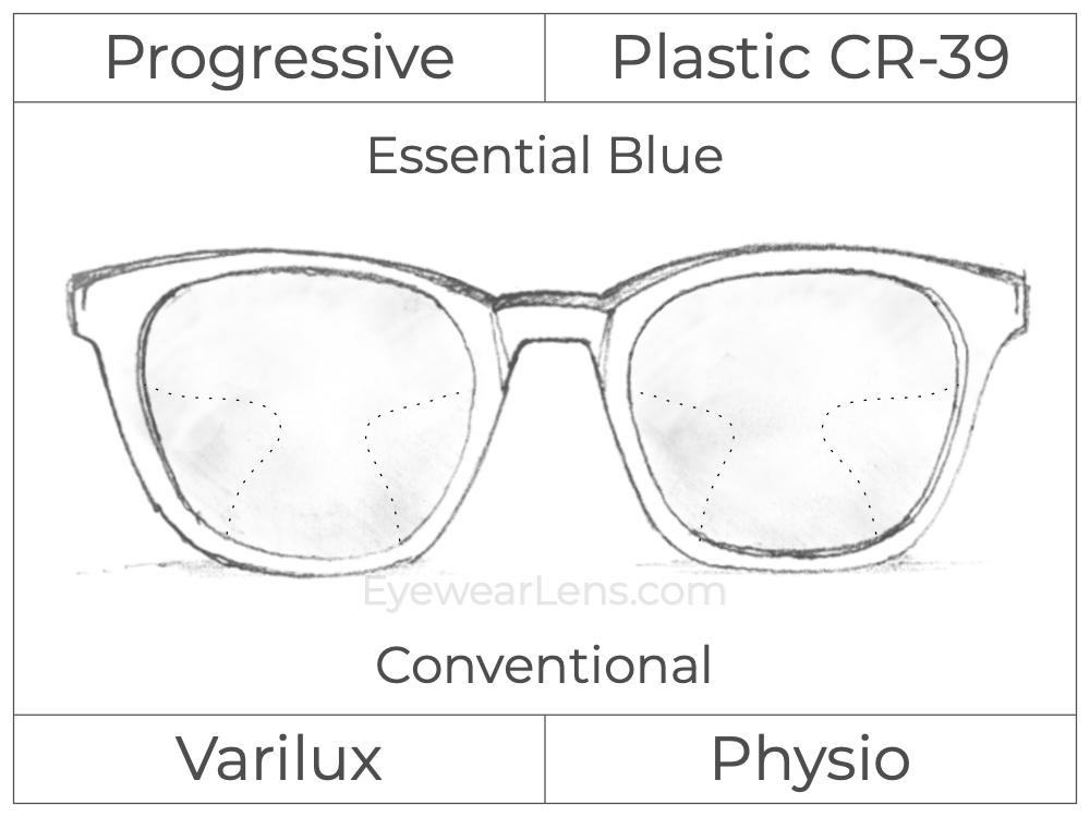 Progressive - Varilux - Physio - Plastic - Essential Blue Series