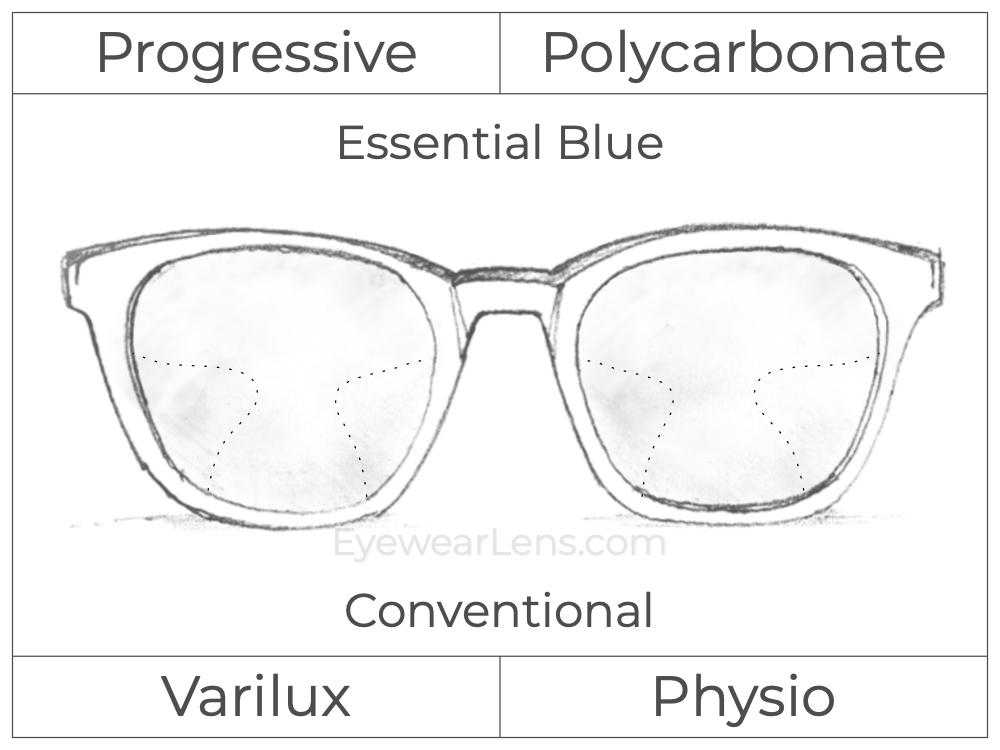 Progressive - Varilux - Physio - Polycarbonate - Essential Blue Series