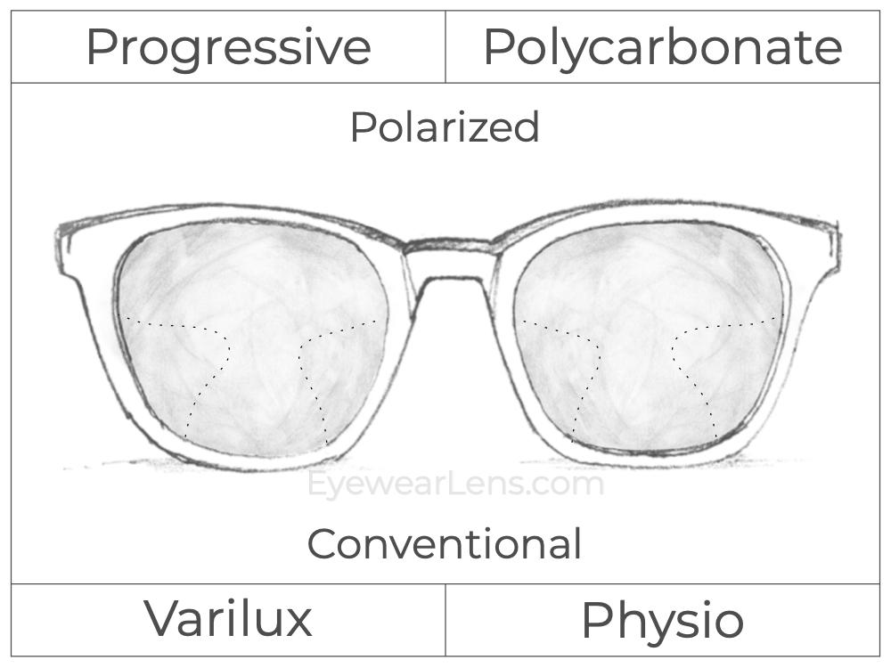 Progressive - Varilux - Physio - Polycarbonate - Polarized