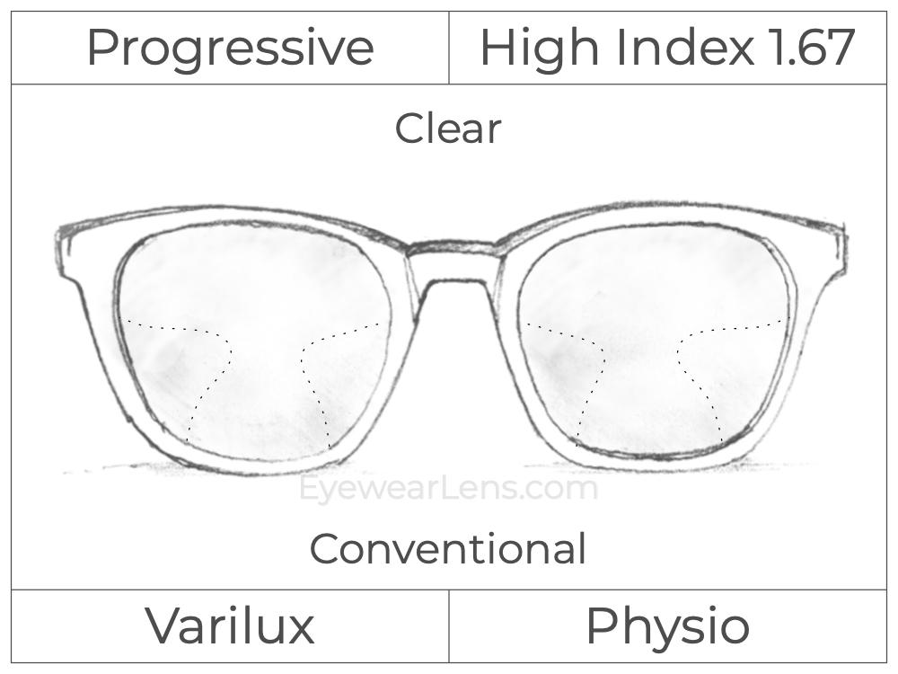 Progressive - Varilux - Physio - High Index 1.67 - Clear