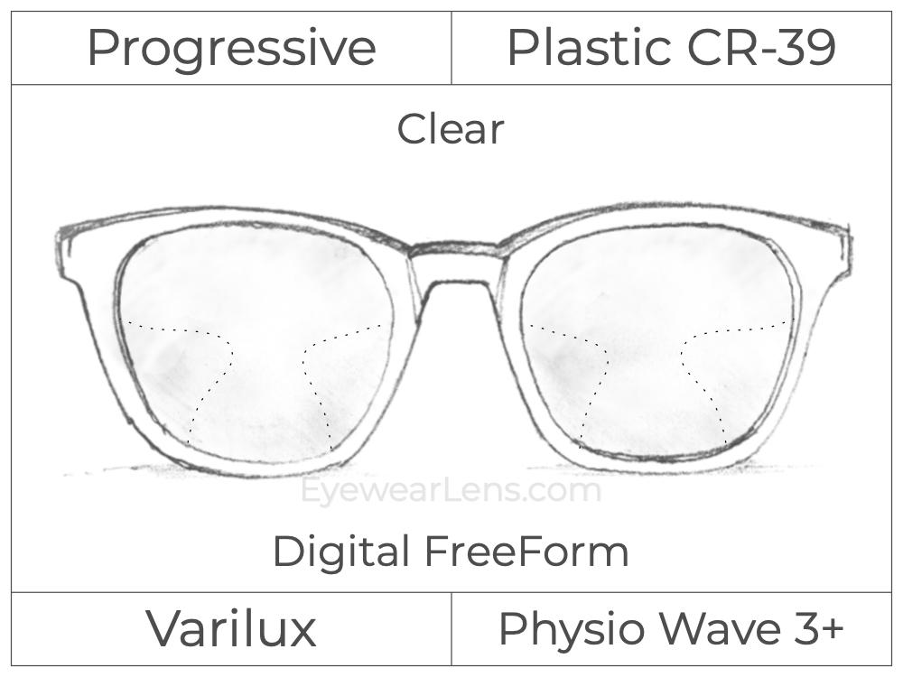 Progressive - Varilux - Physio Wave 3 - Digital FreeForm - Plastic - Clear