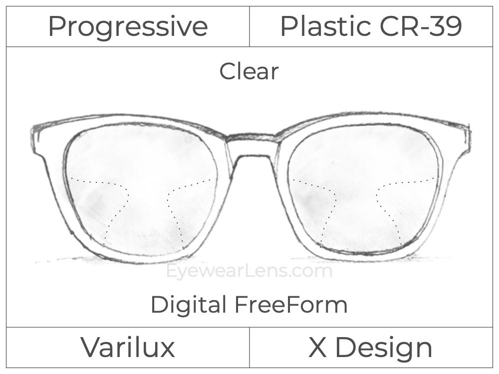 Progressive - Varilux - X Design - Digital FreeForm - Plastic - Clear