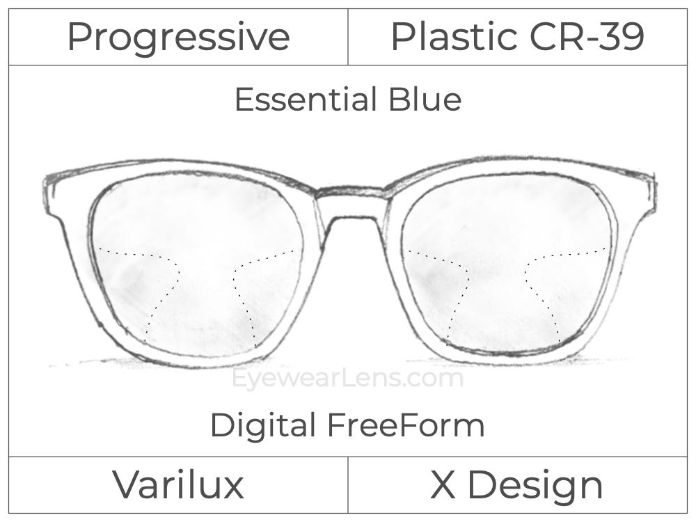 Progressive - Varilux - X Design - Digital FreeForm - Plastic - Essential Blue Series