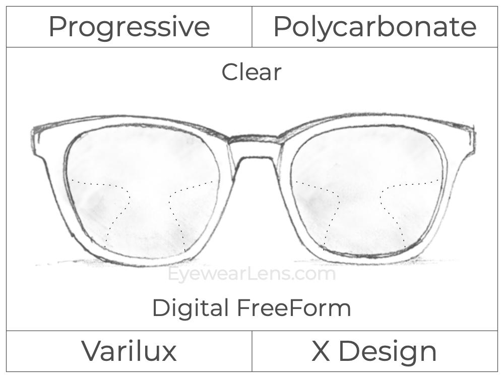 Progressive - Varilux - X Design - Digital FreeForm - Polycarbonate - Clear