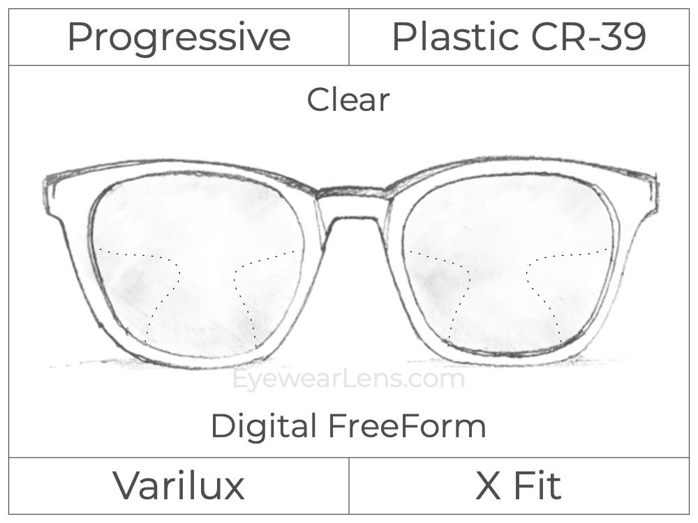 Progressive - Varilux - X Fit - Digital FreeForm - Plastic - Clear