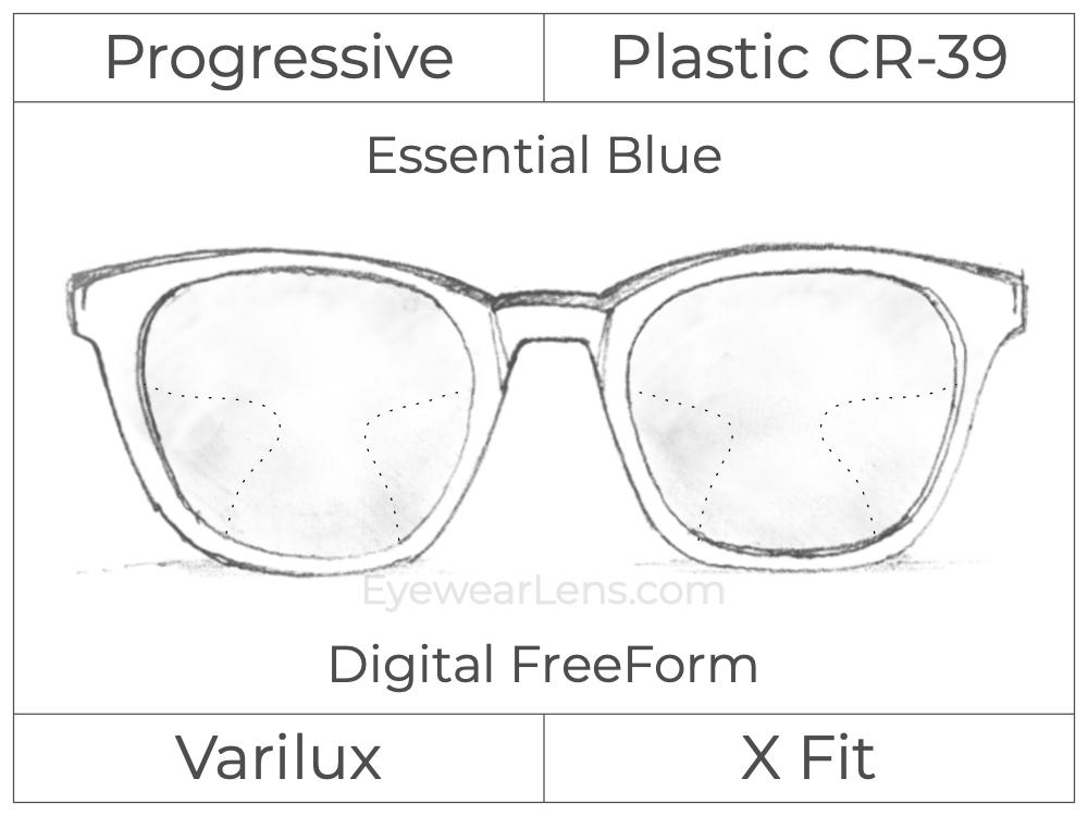Progressive - Varilux - X Fit - Digital FreeForm - Plastic - Essential Blue Series