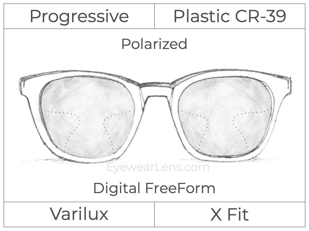 Progressive - Varilux - X Fit - Digital FreeForm - Plastic - Polarized