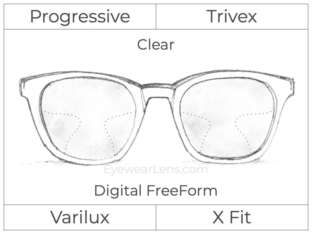 Progressive - Varilux - X Fit - Digital FreeForm - Trivex - Clear