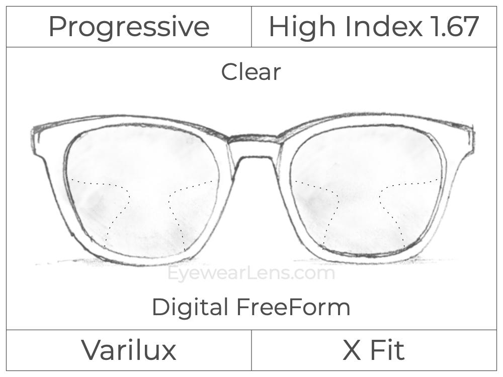 Progressive - Varilux - X Fit - Digital FreeForm - High Index 1.67 - Clear