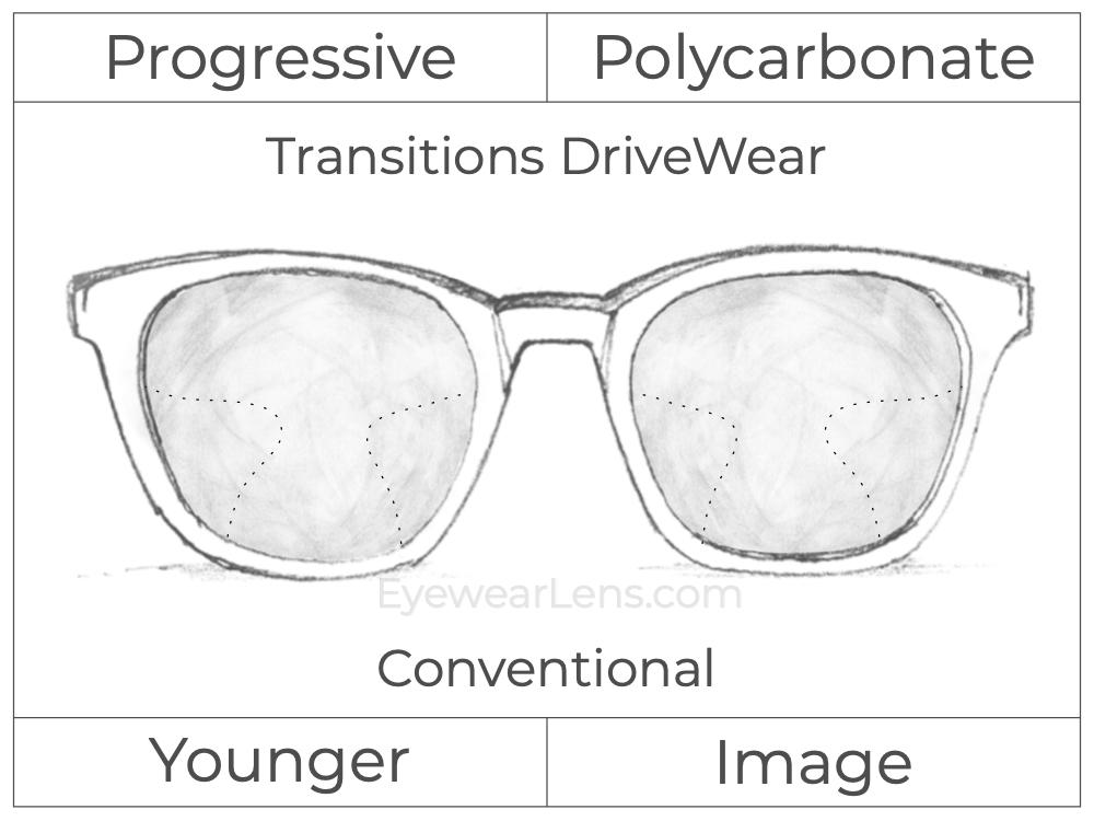 Progressive - Younger - Image - Polycarbonate - Transitions DriveWear