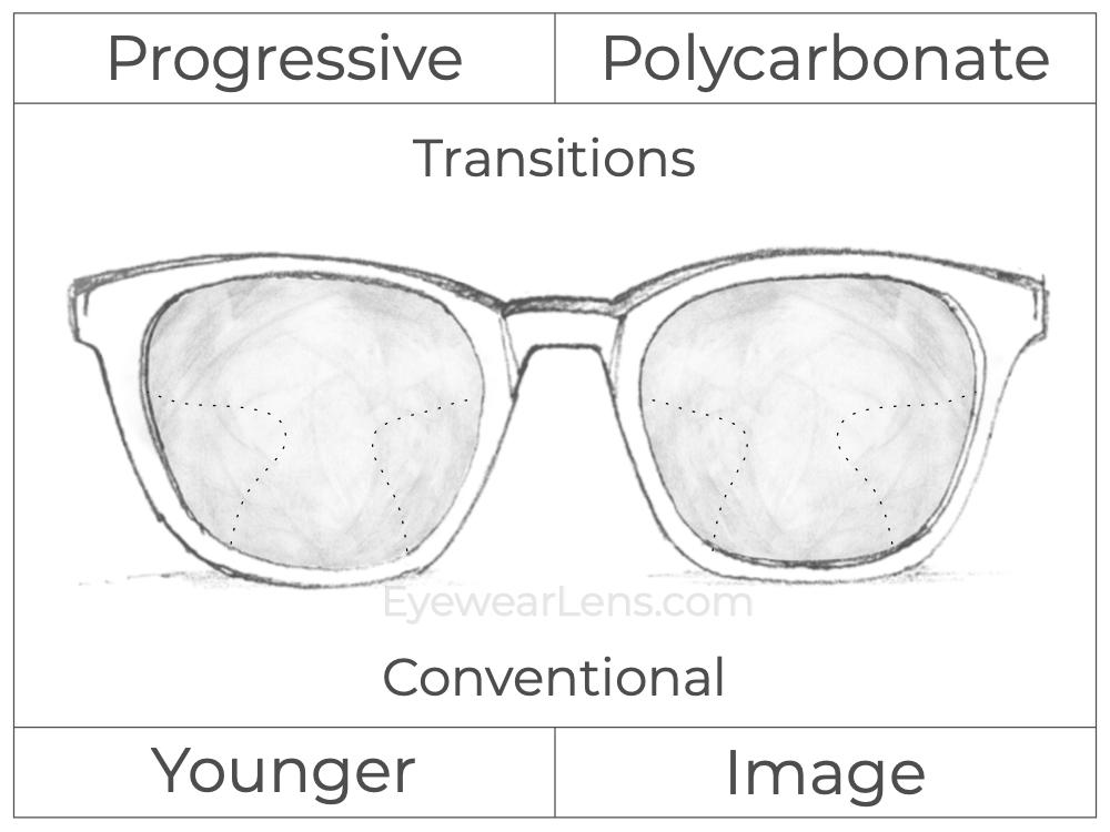 Progressive - Younger - Image - Polycarbonate - Transitions Signature
