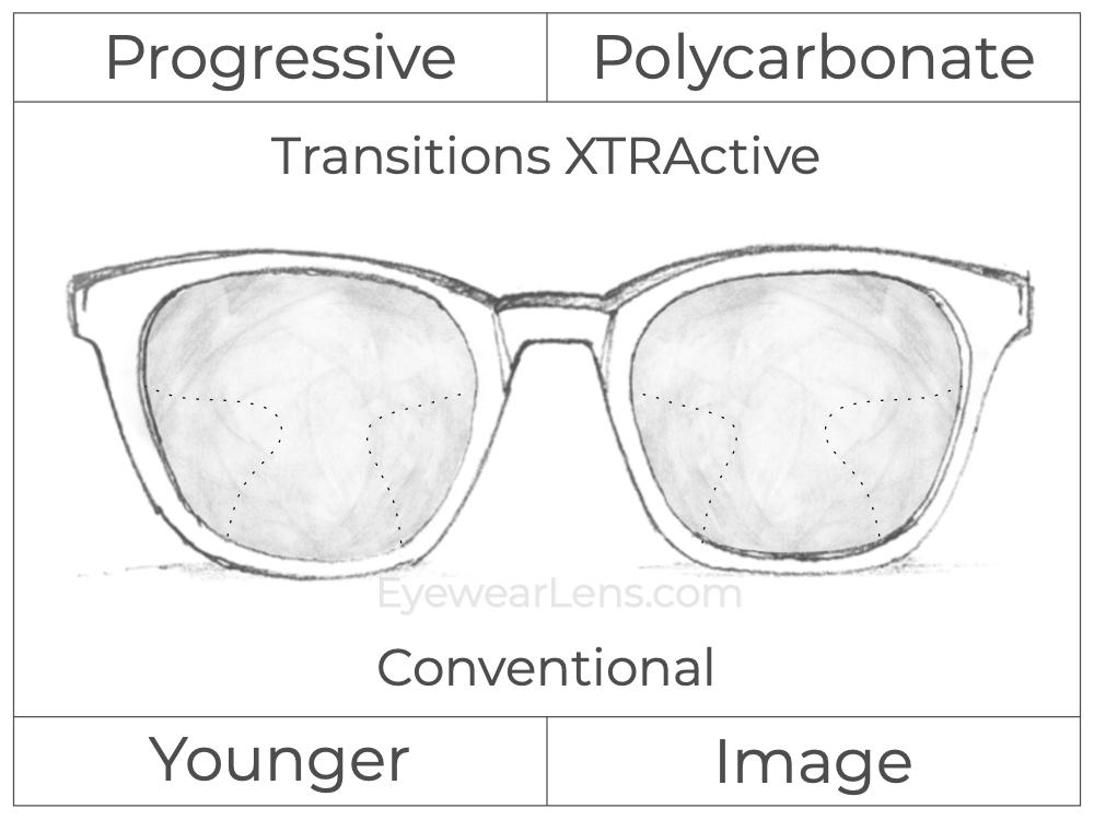 Progressive - Younger - Image - Polycarbonate - Transitions XTRActive
