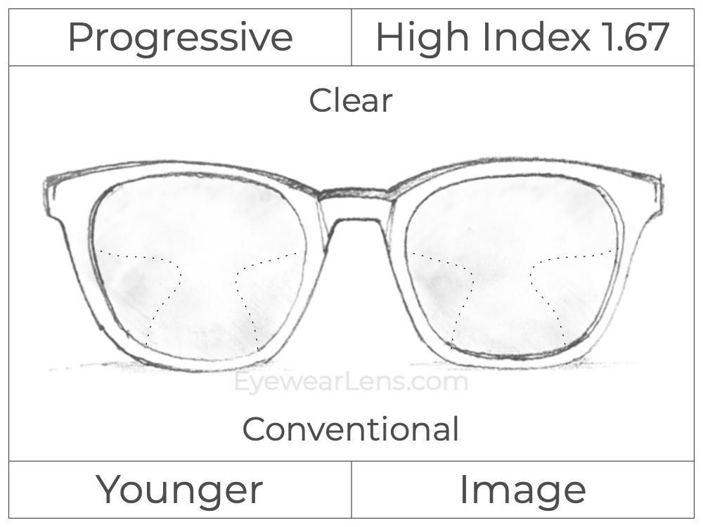 Progressive - Younger - Image - High Index 1.67 - Clear