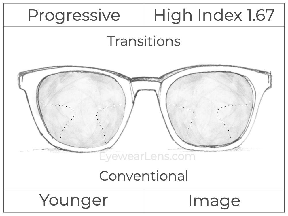 Progressive - Younger - Image - High Index 1.67 - Transitions Signature
