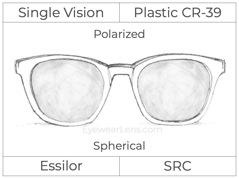 Single Vision - Plastic - Polarized - Spherical