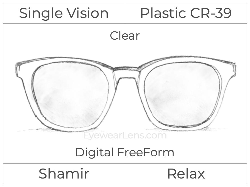 Single Vision - Plastic - Shamir Relax - Digital FreeForm - Clear - Aspheric