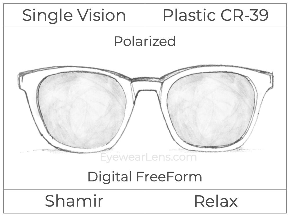 Single Vision - Plastic - Shamir Relax - Digital FreeForm - Polarized - Aspheric