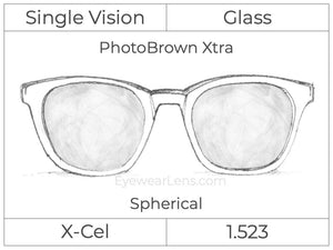 Single Vision - Glass - Spherical - PhotoBrown Xtra