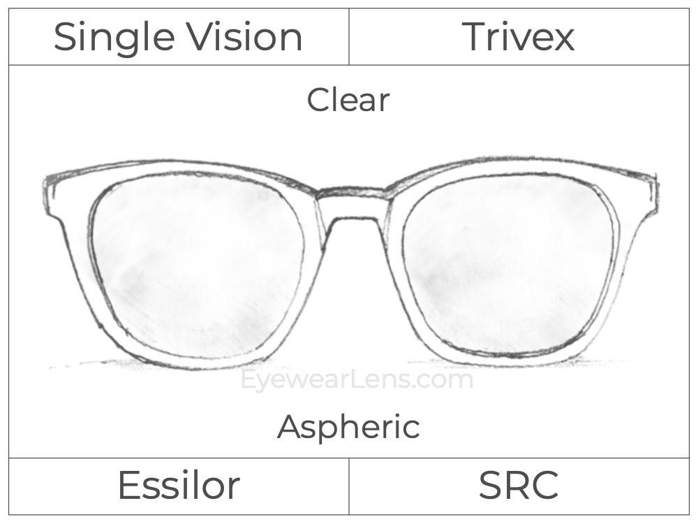 Single Vision - Trivex - Clear - Aspheric