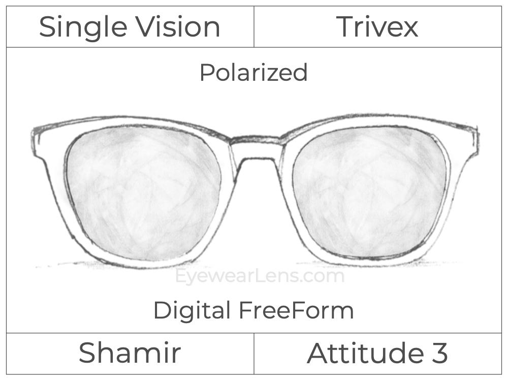 Single Vision - Trivex - Shamir Attitude 3 - Digital FreeForm - Polarized - Aspheric